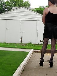 Sissy, Public slut, Public sex, Stocking sex, Public stockings