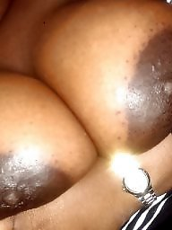 Ebony bbw, Big nipples, Areola, Big black