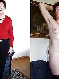 Granny, Dressed undressed, Dress, Mature dress, Dressed, Amateur granny