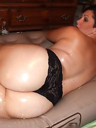 Amateur bbw, Ups, Oil, Oiled