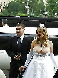 Bride, Brides, Flashing boobs, Public boobs