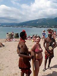 Beach, Busty russian, Russians, Woman, Busty beach