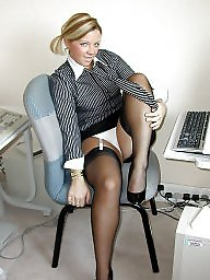 Vintage, Office, Nylons, Lady, Vintage nylon, Ladies