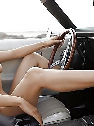 Car, Mature boobs, Voyeur mature