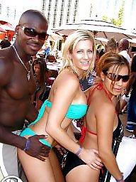 Bikini, Black, White, Bikini beach