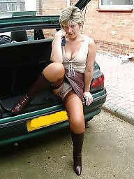 Mature stockings, Leather, Mature leather, Uk mature, Mature stocking