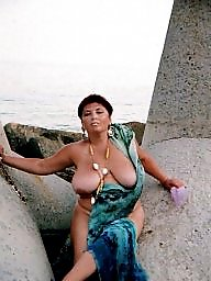 Russian mature, Outdoor, Russian, Mature big tits, Mature outdoors, Outdoors