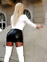 Leather, Skirt, Lady, Skirts