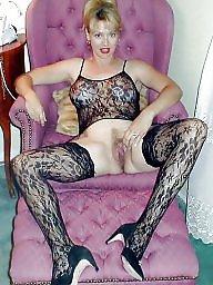 Nylon, Nylons, Open, Upskirt stockings, Wide, Wide open