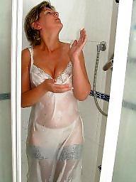 Shower, Uk milf, Showers