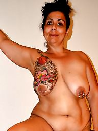 Bbw tits, Tattoo, Red, Tattooed