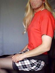 Skirt, Blonde, Upskirt stockings, Skirts