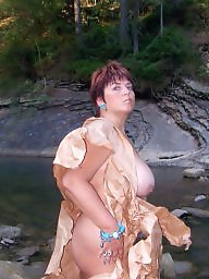 Outdoor, Russian mature, Mature big tits, Mature russian, Outdoors, Mature outdoor