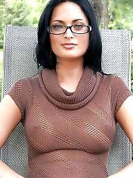 Glasses, Orgasm, Mature suck, Sucking