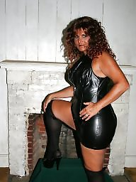 Mature femdom, Strapon, Femdom, Latex, Pvc, Leather