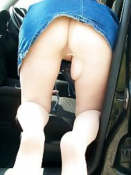 Mature upskirt, Outside, Stocking mature, Upskirt mature