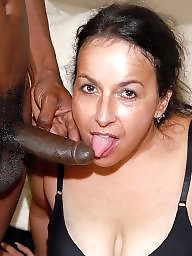Blowjob, Interracial blowjob, White