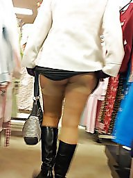 Upskirt, Flashing, Shopping, Upskirt milf, Shop, Wife flashes