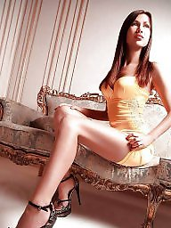 High heels, Teen stockings, High, Stockings heels