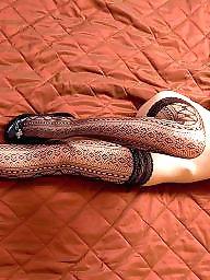 Hairy stockings, Hairy brunette