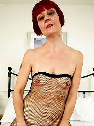 Mature pantyhose, Old, Fishnet, British mature, British, Pantyhose mature