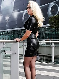 Latex, Leather, Upskirt milf, Milf upskirt