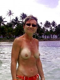 Amateur, Sun, Mature beach, Beach mature