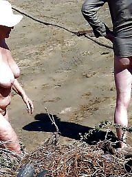 Nudist, Mature beach, Couple, Couples, Mature couple, Beach mature
