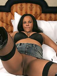 Ebony, Stockings, Milf stockings, Ebony panties