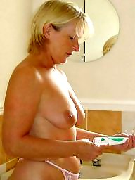 Bathroom, Mature wife