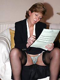 Uk mature, Lady, Stocking mature, Amateur matures