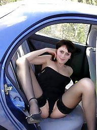 Car, Russian, Woods, House, Flashing in public, Cars