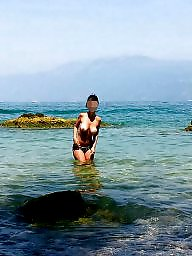 Topless, Beach topless, Voyeur beach, Beach amateur