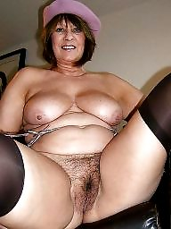 Hairy mature, Mature boobs