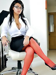 Office, Lady, Upskirts, Officer