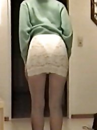 Skirt, Tights, Tight, Bitch, Slutty, White ass