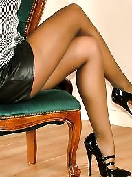 Heels, High heels, Teen stockings