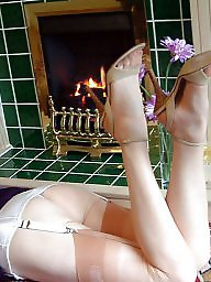 Vintage mature, Mature stockings, Ladies, Relax