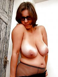 Mature, Glasses, Mature porn, Mature big boobs, Porn, Cream