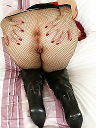 Fishnet, Mature pantyhose, British, Milf pantyhose, Mature stocking, Pantyhose mature