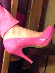 Shoes, Pants, Shoe, Pink, Wife amateur, Pump