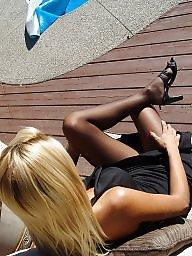 Nylon, Nylons, Street, Upskirt stockings, Nylon stockings