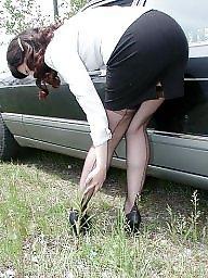 Vintage, Nylon, Car, Nylons, Cars, Upskirt stockings