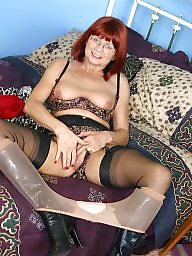 Granny, Grannies, Stocking, Nylon, Mature nylon, Legs