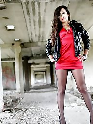 Miniskirt, Upskirts, Pantyhose upskirt, Upskirt stockings