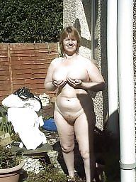 Garden, Neighbor, Mature naked