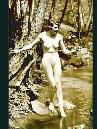 Water, Lady, Vintage amateur