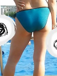 Pool, Mature ass, Spy, Romanian, Mature asses