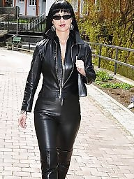 Latex, Pvc, Boots, Leather, Mature latex, Mature porn