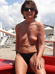 Beach, Mature beach, Lady, Mature lady, Beach mature